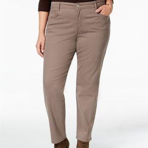 Womens Plus Size Tummy Control Slim Leg Jeans NEW